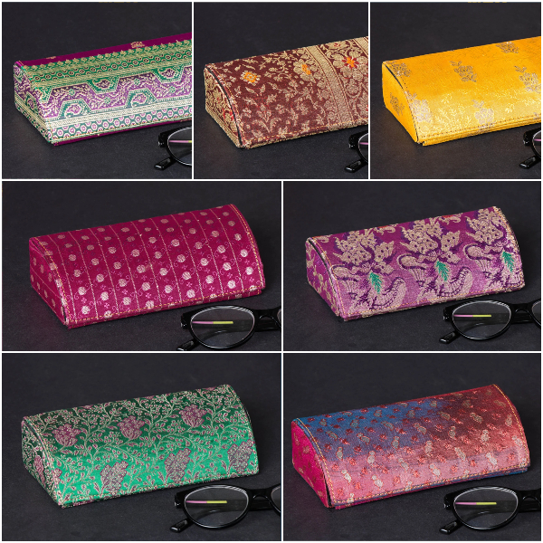 Brocade Silk Fabric Embellished Spectacle Cases