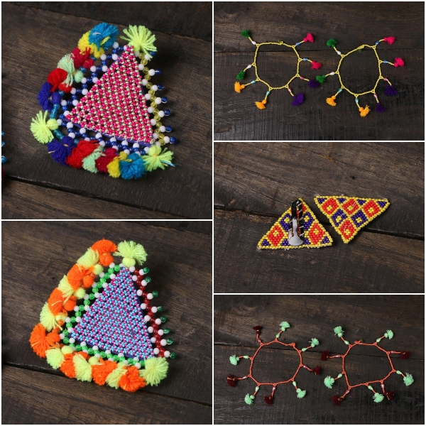 Beadwork Anklets & Hair Clips from Kutch by Hodka Girls