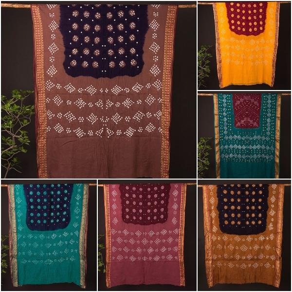 Kutchhi Bandhani Mul Cotton Sarees