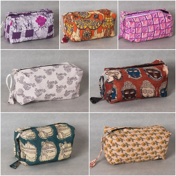 Handmade Multipurpose Cosmetic Toiletry Pouches