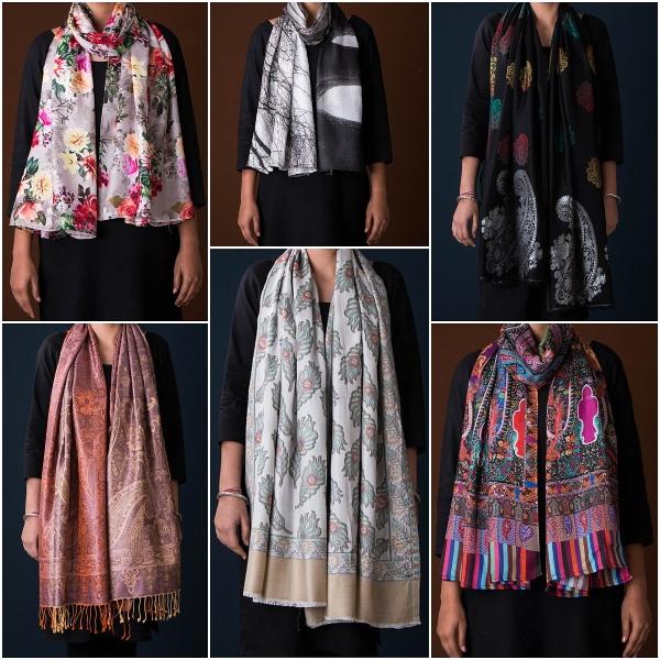 Farukhabad Screen & Digital Printed Stoles in Silk & Viscose Silk